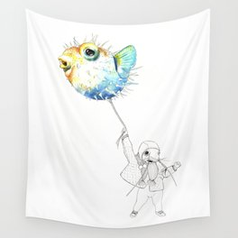 Pufferfish - Puffed up Wall Tapestry