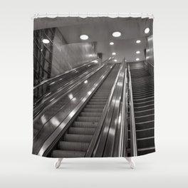 Underground station - stairs - Brandenburg Gate - Berlin Shower Curtain