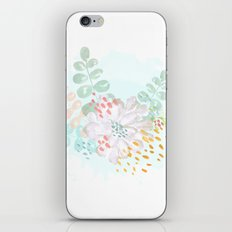 Paint splatter flower iPhone & iPod Skin