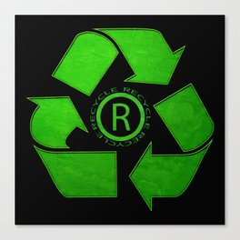 Recycle Logo Canvas Print