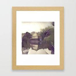 False Color Kyoto Framed Art Print