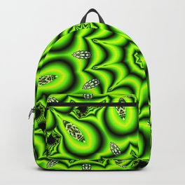 Spring Garden Mandala, Abstract Star Burst Delightful Spirals Backpack