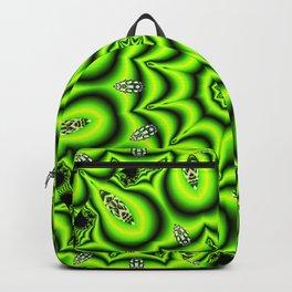 Spring Garden Mandala, Abstract Star Burst Delightful Spirals Backpack