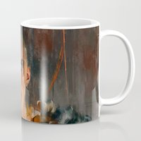 mad max Mugs featuring Nux Mad Max by Wisesnail