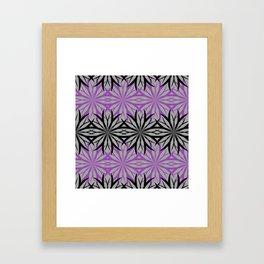 black and purple Framed Art Print