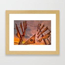 Tall Ship BAE Guayas, Ecuador Framed Art Print