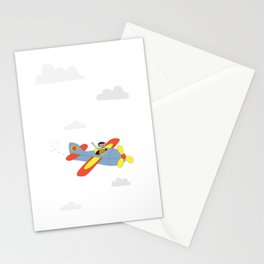 Plane Ride Stationery Cards