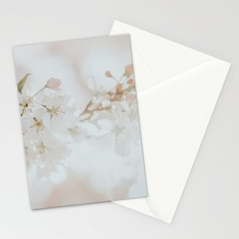 White Cherry Blossom Photo | Plantlife Photography | Atmospheric Blossom Close-up Stationery Cards