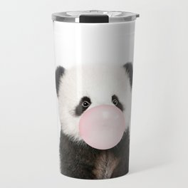 Bubble Gum Panda Bear Travel Mug