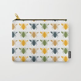 Honey Bees in yellow, gold and navy Carry-All Pouch