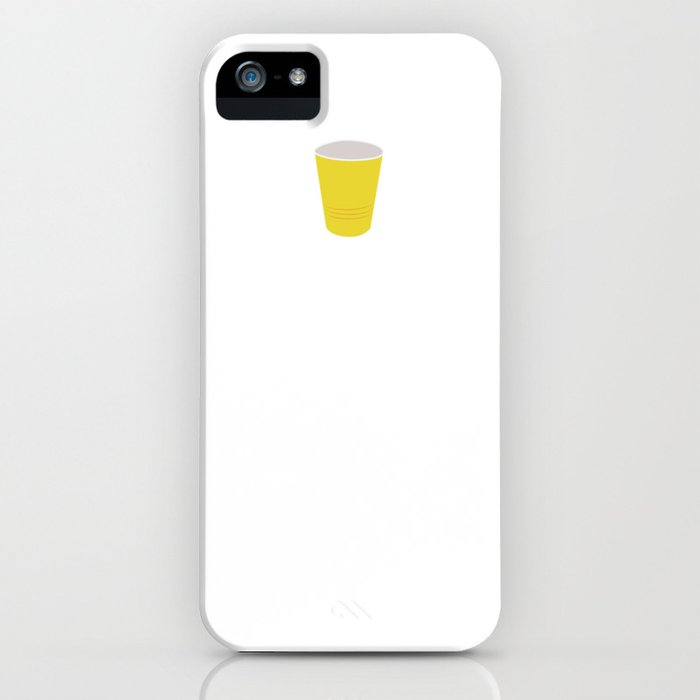 Letters Down Bottoms Up Drinking Beer T-Shirt iPhone Case