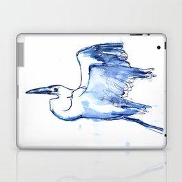 Heron in Indigo Laptop & iPad Skin
