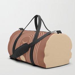 Mid Century Modern Geometric 10 (Moon phases) Duffle Bag