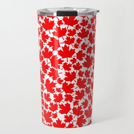 Canadian fall / Canadian flag maple leaf pattern Travel Mug