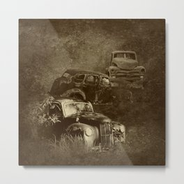 Cars in the jungle Metal Print
