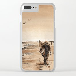 Coffee Art- Surf Clear iPhone Case