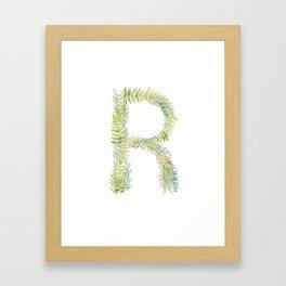 Initial R Framed Art Print