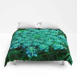 Turquoise Queen Anne's Lace Comforters