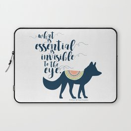 What is essential is invisible to the eye. The Fox. Laptop Sleeve