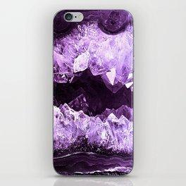 Amethyst Crystal Cave iPhone Skin