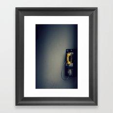 Pay Phone VII Framed Art Print