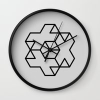 positive Wall Clocks featuring Positive by Dizzy Moments