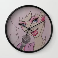 jem Wall Clocks featuring Jem and the Holograms  by DustyRoseArt