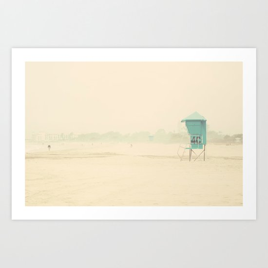 waiting for a gift from the sea ...  Art Print