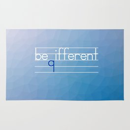 Be Different Typography Design Rug