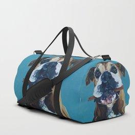 My Happy Abby Boxer Girl Portrait Duffle Bag