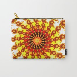 """Ultimate Sun"" Fractal Art Print Carry-All Pouch"