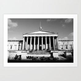 National Gallery London Photography Art Print Black and White Monochrome Art Print