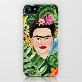 Jungle Frida iPhone Case