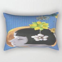 Lady on the Moon Rectangular Pillow