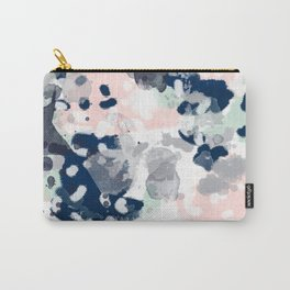 Melia - abstract minimal painting acrylic watercolor nursery mint navy pink Carry-All Pouch