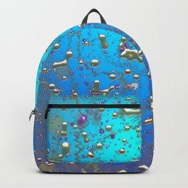 Abstract Blue Golden Rain Backpack