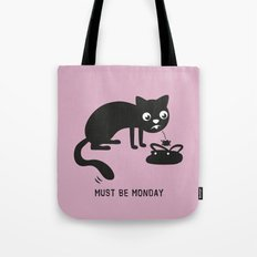 Must Be Monday, Cat Tote Bag
