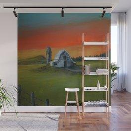 Sunrise Farm Wall Mural
