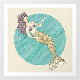 Merlady Art Print