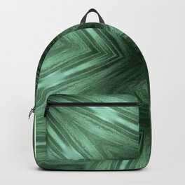 Green Star Flower Blossom Metallic Color #Pattern #Background Backpack