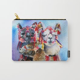 Cute Alpacas friends in Watercolor Carry-All Pouch