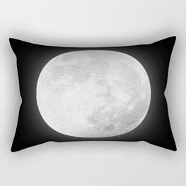 CHALK WHITE MOON Rectangular Pillow
