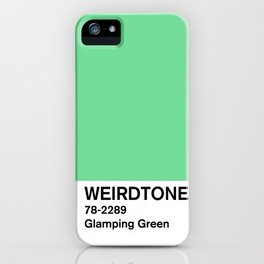 Glamping Green iPhone Case
