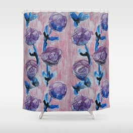 Rose Petals Series Paintings Shower Curtain
