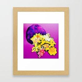 Garden Circle - Violet Framed Art Print