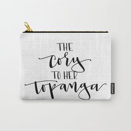 The Cory to her Topanga Carry-All Pouch