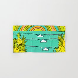 pineapple fields and endless summer vibes Hand & Bath Towel