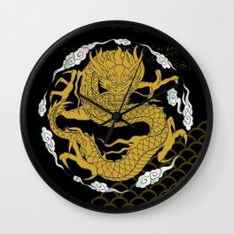 Traditional Gold Dragon Wall Clock