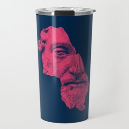 MARCUS AURELIUS ANTONINUS AUGUSTUS / prussian blue / vivid red Travel Mug