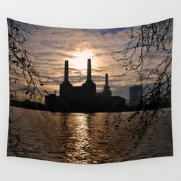 Battersea Power Station River Thames London Wall Tapestry